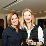 Glamour's editor in chief cindi leive (l) and ceo and founder of theranos elizabeth holmes